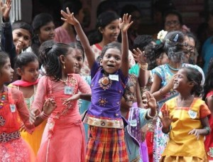 Girls celebrate in Central East India